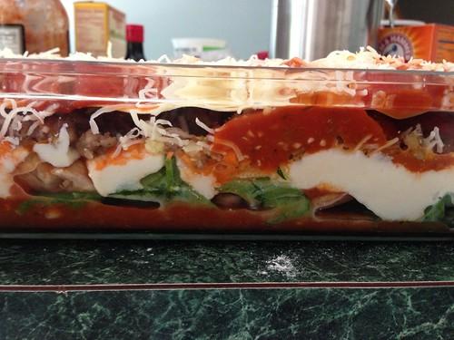 Lasagna side view