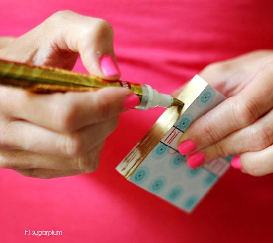Hi Sugarplum | DIY Gilded Business Cards