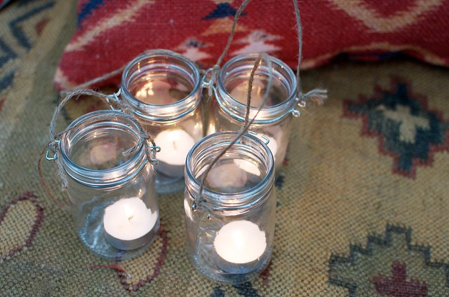 DIY Hanging Candle Jars