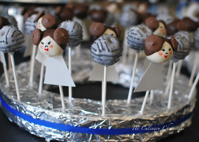 Princess Leia Cake Pops & Death Star Rice Krispy Pops