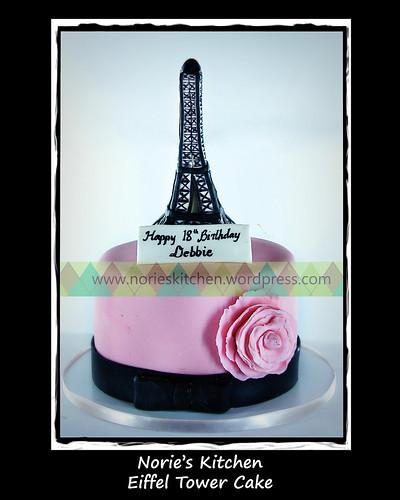 Norie's Kitchen - Eiffel Tower Cake by Norie's Kitchen