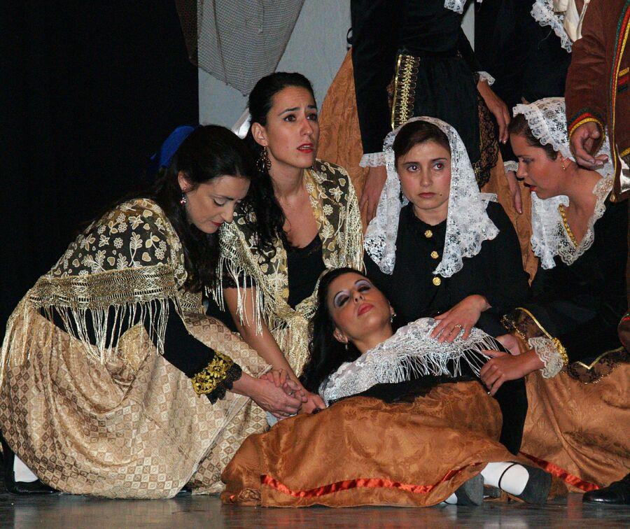 5. Representación de la zarzuela Los Gavilanes. Autor, ACAZ
