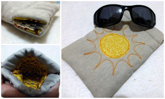 Sunglasses flex frame pouch