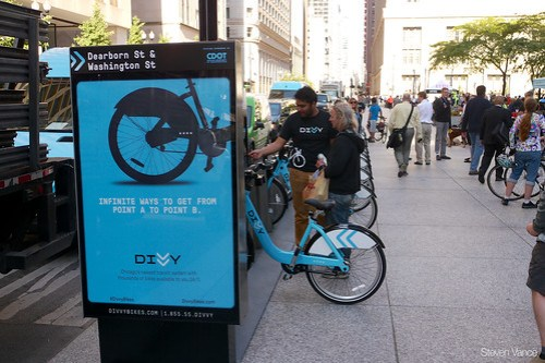 Divvy bike sharing at Bike to Work Day Rally