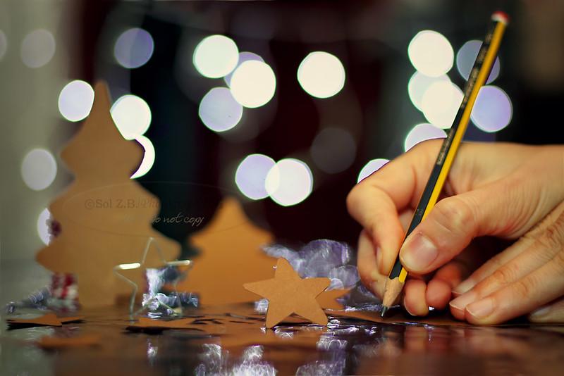 Escribiendo tarjetas de Navidad, Writening Christmast cards