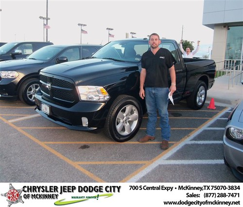 Chrysler Jeep Dodge City of McKinney would like to say Congratulations to Hank Hefner on the 2013 Dodge Ram by Dodge City McKinney Texas