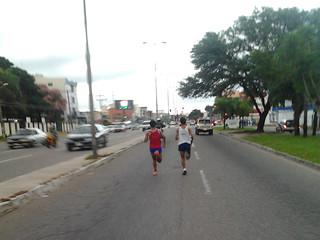 Cesar y Lucas llegando al km 7.5