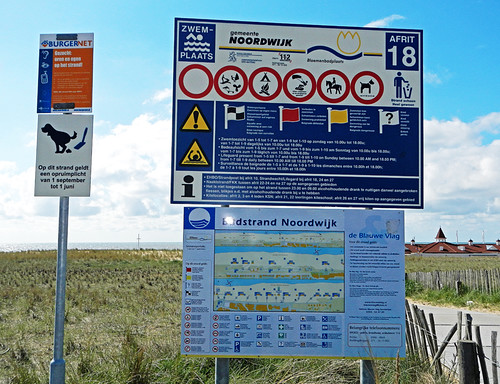 Holland, sign on the beach