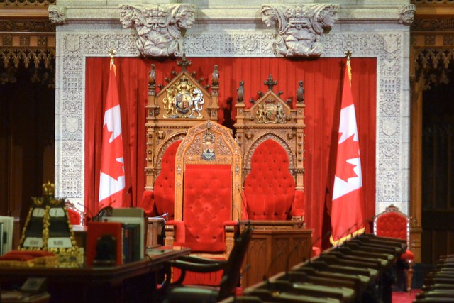 Canadian Parliament--President of the Senate and Queen's Chairs