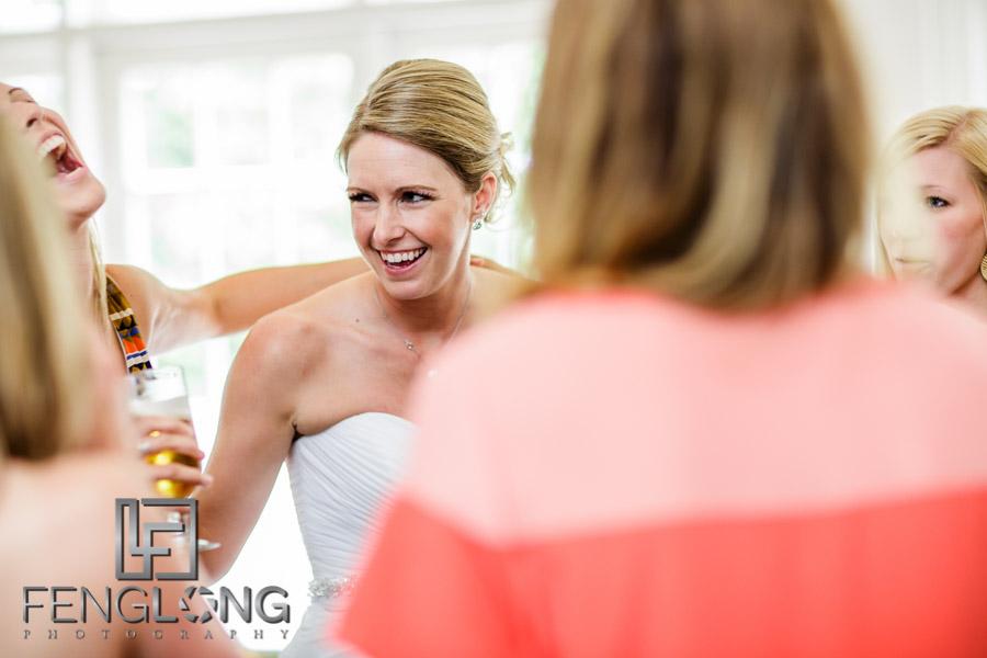 Bride dances during wedding reception