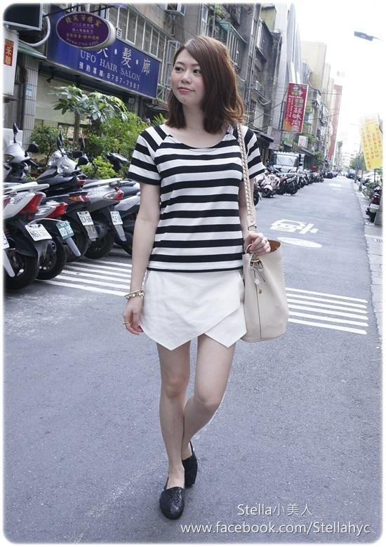 【經典單品重複穿】黑白橫條紋x4種穿搭 - ♥Little Stella♥小美人 - FashionGuide 華人時尚專業評鑑