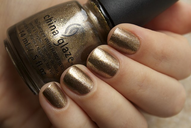 08 China Glaze Autumn Nights Goldie But Goodie