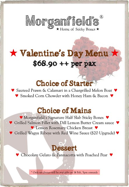 Morganfield's Valentine's Day promotion