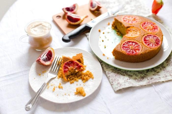 Blood Orange Polenta Cake