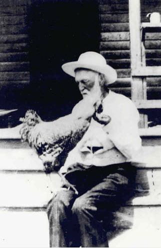 P. D. Gilreath with Rooster