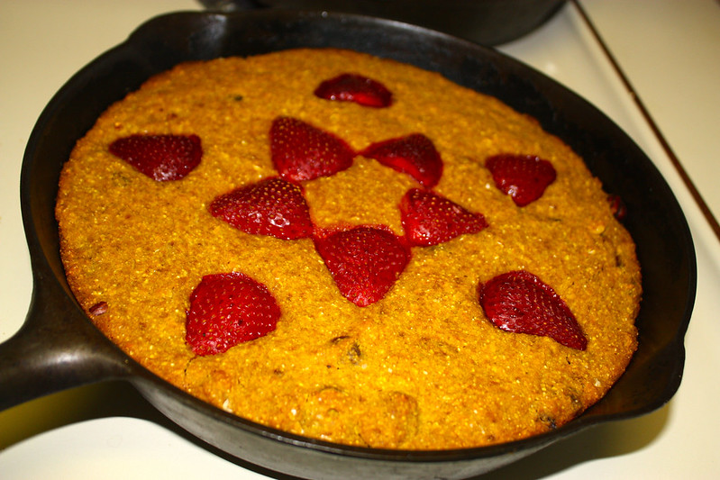 strawberry cornmeal