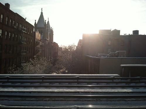 East Harlem on the train by lorenzodom