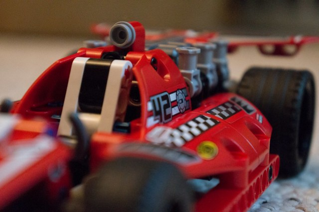 LEGO Technic 42011 race car close up
