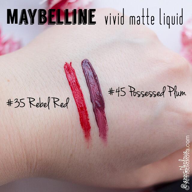 04 Maybelline Vivd Matte Liquid swatches