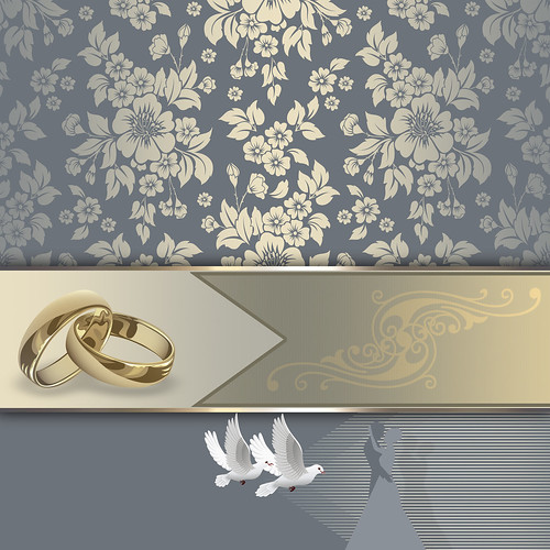 Wedding invitation card design.