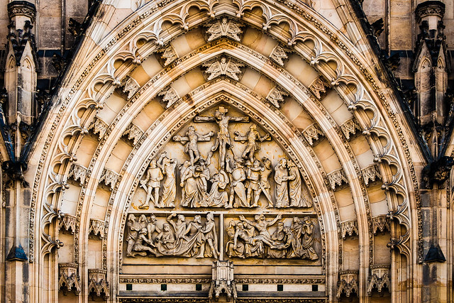 St Vitus Cathedral Tympanum. Prague Castle