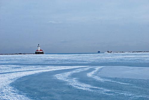 Chicago, Light House, winter, ice