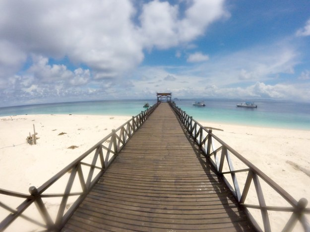 The dock. Sipadan Island