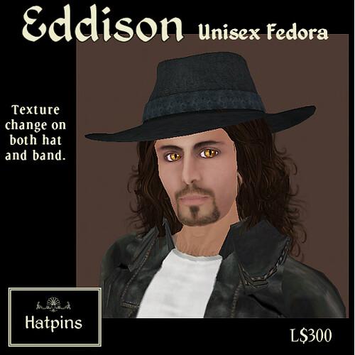 Hatpins - Eddison Fedora
