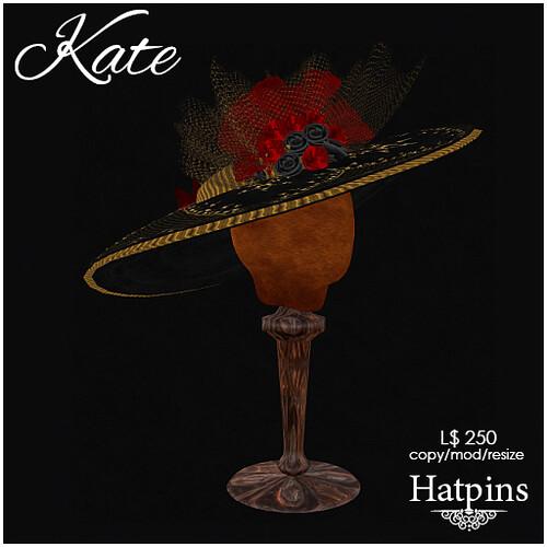 Hatpins - Kate Hat - Eccentric