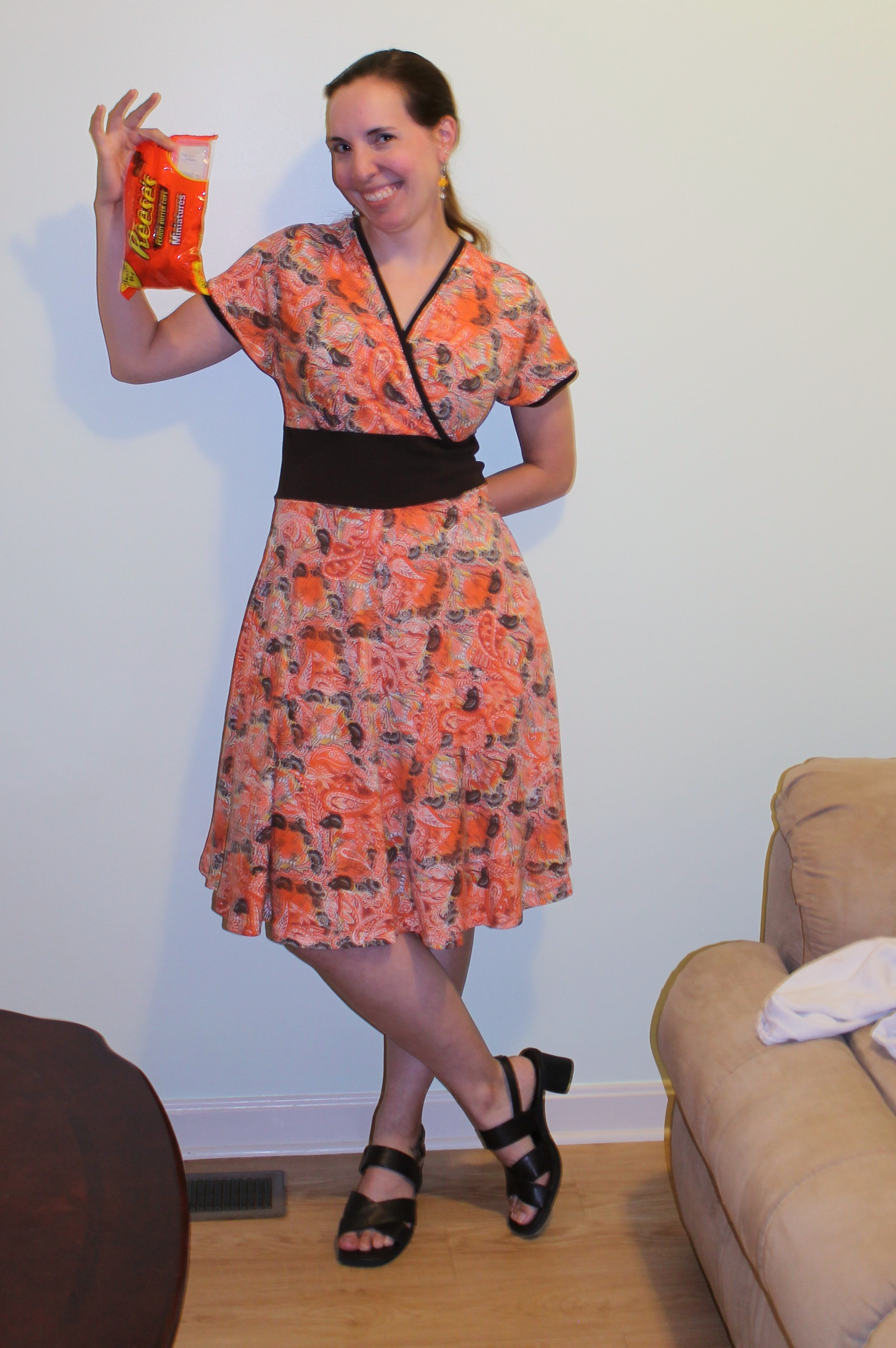 My finished Reeses' dress