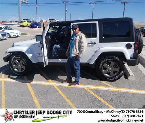 Happy Anniversary to Jose Valente on your 2013 #Jeep #Wrangler from David Walls  and everyone at Dodge City of McKinney! #Anniversary by Dodge City McKinney Texas