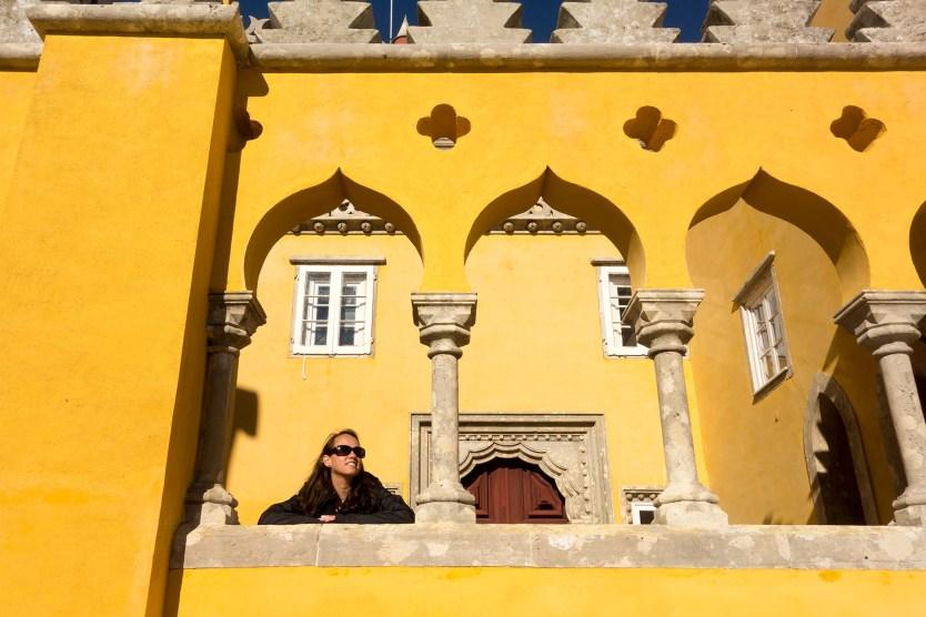 Glinda enjoying the sun at Pena Palace.