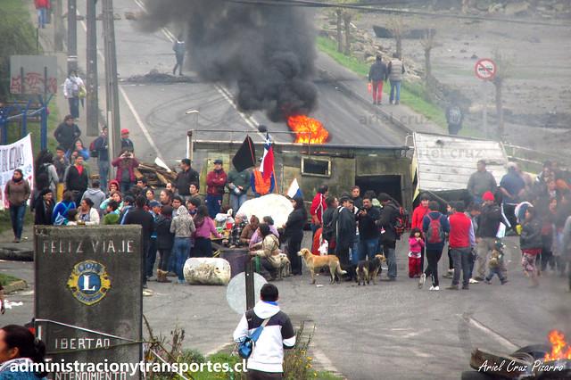 Crisis Chiloé: Corte en Punta Diamante (Castro)