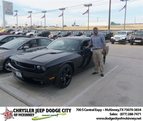 Dodge City of McKinney would like to say Congratulations to Trena Hicks on the 2013 Dodge Challenger by Dodge City McKinney Texas
