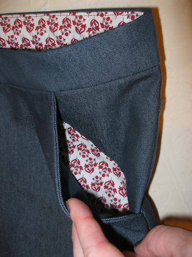 Grainline Moss Mini - pocket detail