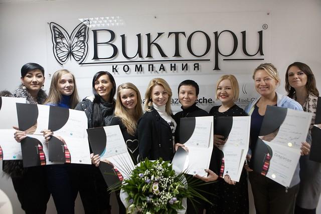Kursy manikura kompaniya Victori Kiev, my group