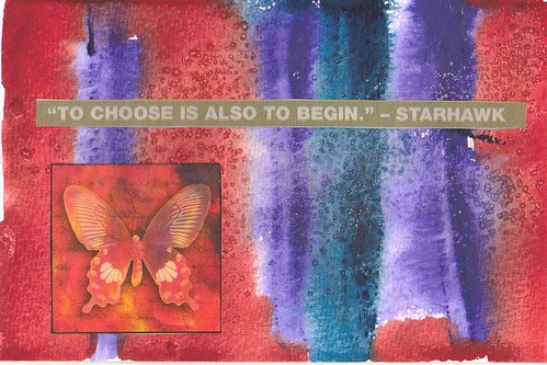 to choose is also to begin