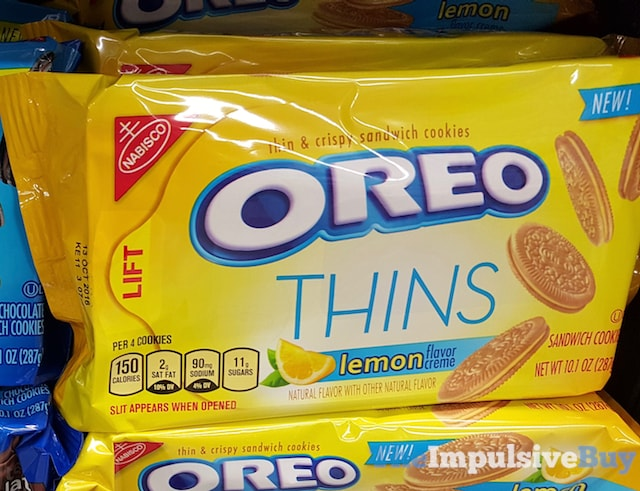 Nabisco Lemon Oreo Thins