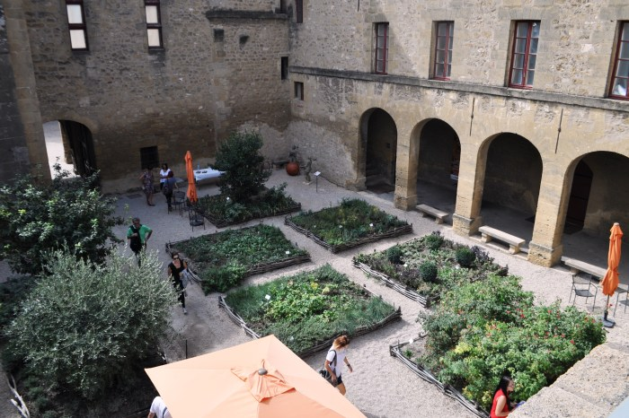 16th Century Garden Was Created to Celebrate 500th Birthday of Nostradamus Who Lived in Salon from 1547 - 1566. The Garden is in Chateau de l'Emperi