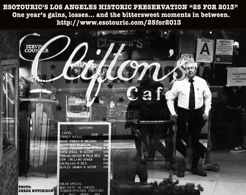 Cliftons Nestor Historic Preservation 25 for 2013.  This is a photo of Clifton's Brookdale circa 2009.  Derek Hutchinson took the photo.  Pictured is Nestor, who was a manager at Clifton's Cafeteria for about 25 years.