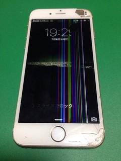 121_iPhone6のフロントパネル液晶割れ