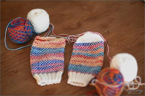 wip: Broken Seed Stitch Socks