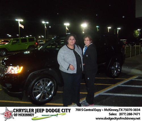 Happy Anniversary to Cristina Castro on your 2013 #Jeep #Grand Cherokee from Bobby Crosby  and everyone at Dodge City of McKinney! - Copy by Dodge City McKinney Texas