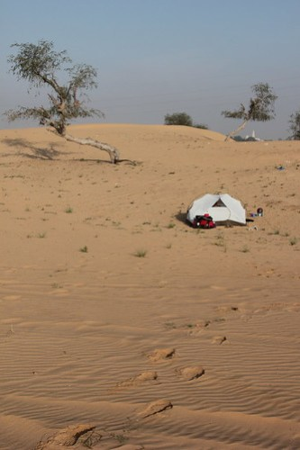 Camping in the UAE desert