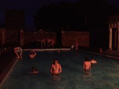 night swim, summer camp