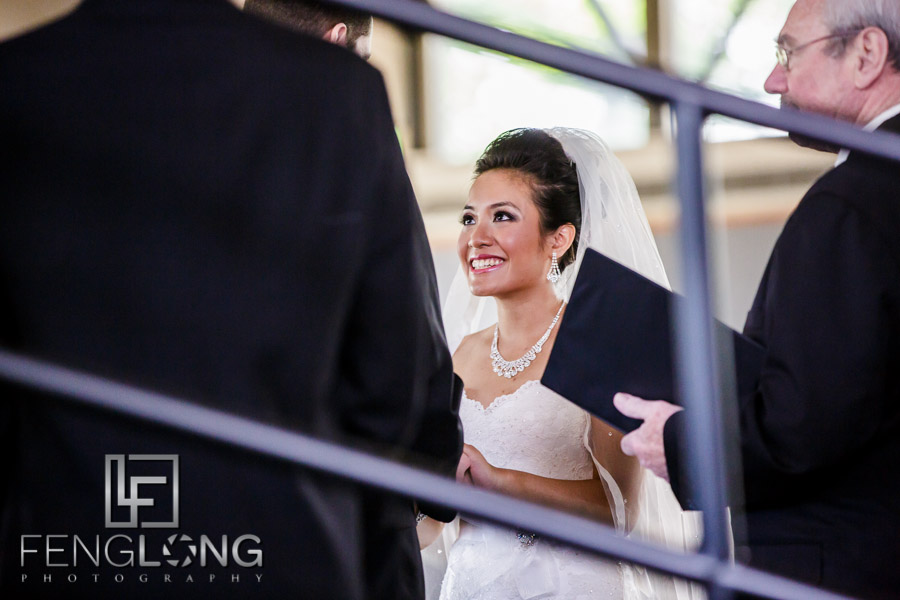 Cambodian Bride and American groom during wedding ceremony