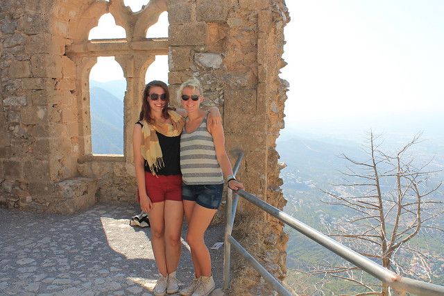 At the top of the castle