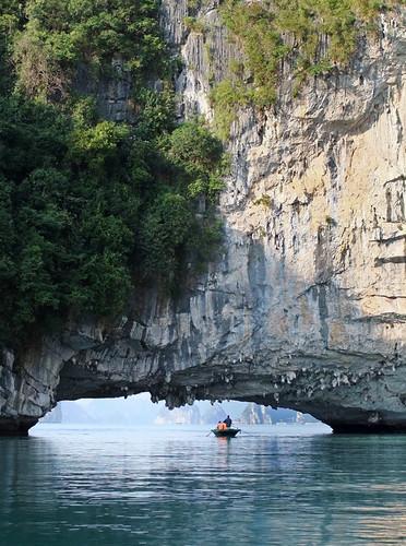 Overhang seen while cruising Ha Long Bay in Vietnam