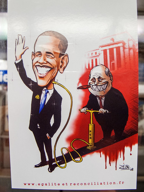 Obama political cartoon - Sticker
