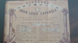 Cartel de la Logia Española